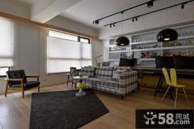 65平米现代风格小户型一居室装修设计效果图