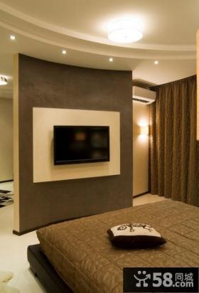 优质款流行卧室电视背景墙效果图