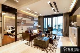 现代房屋带阳台客厅装修图欣赏