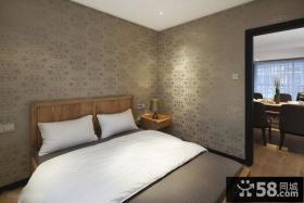 卧室液体壁纸墙面设计