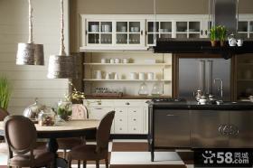 简欧风格开放式厨房装修效果图大全2013图片