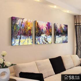 客厅装饰画搭配效果图