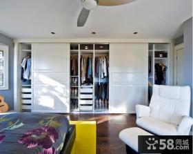 主卧室推拉门衣柜效果图大全2013图片