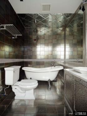 卫浴间黑色瓷砖效果图
