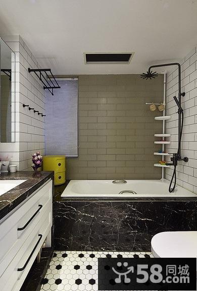 黑白灰北欧风格卫生间装修