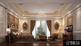 豪华宫殿一样的欧式风格卧室吊顶装修效果图大全2012图片