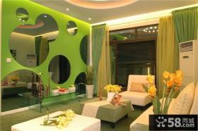 现代风格60平米两室一厅装修设计图片
