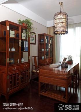 中式风格古典书房装修效果图