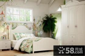 北欧风格卧室实木家具衣柜装修效果图