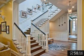 白色实木楼梯装潢
