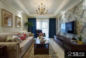休闲美式风格客厅设计