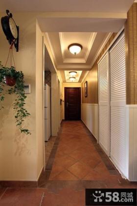 美式风格室内设计过道吊顶效果图