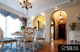 地中海风格别墅室内餐厅图片