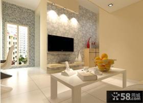25平米小户型客厅电视背景墙装修效果图