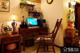 美式田园风格室内家具书桌图片