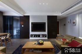 现代日式设计客厅电视背景墙家居