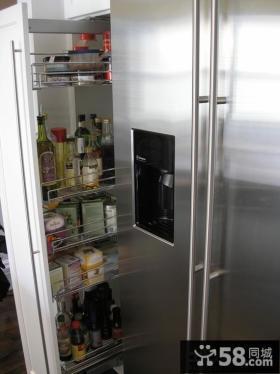 厨房橱柜拉篮设计图片