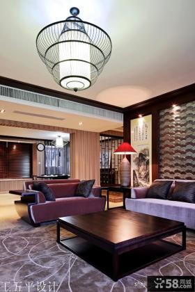 新中式风格客厅吊灯设计