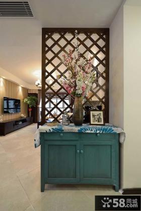 时尚家居客厅隔断柜布置效果图