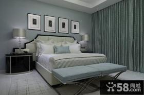 12万打造120平米现代简欧风格卧室装修效果图大全2014图片