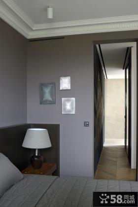 简约现代装修卧室灯具图片