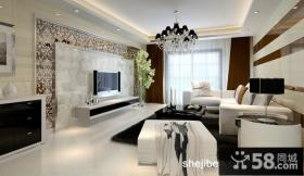现代风格两室一厅客厅吊顶装修效果图大全2012图片