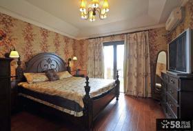 欧式古典风格卧室壁纸装修效果图