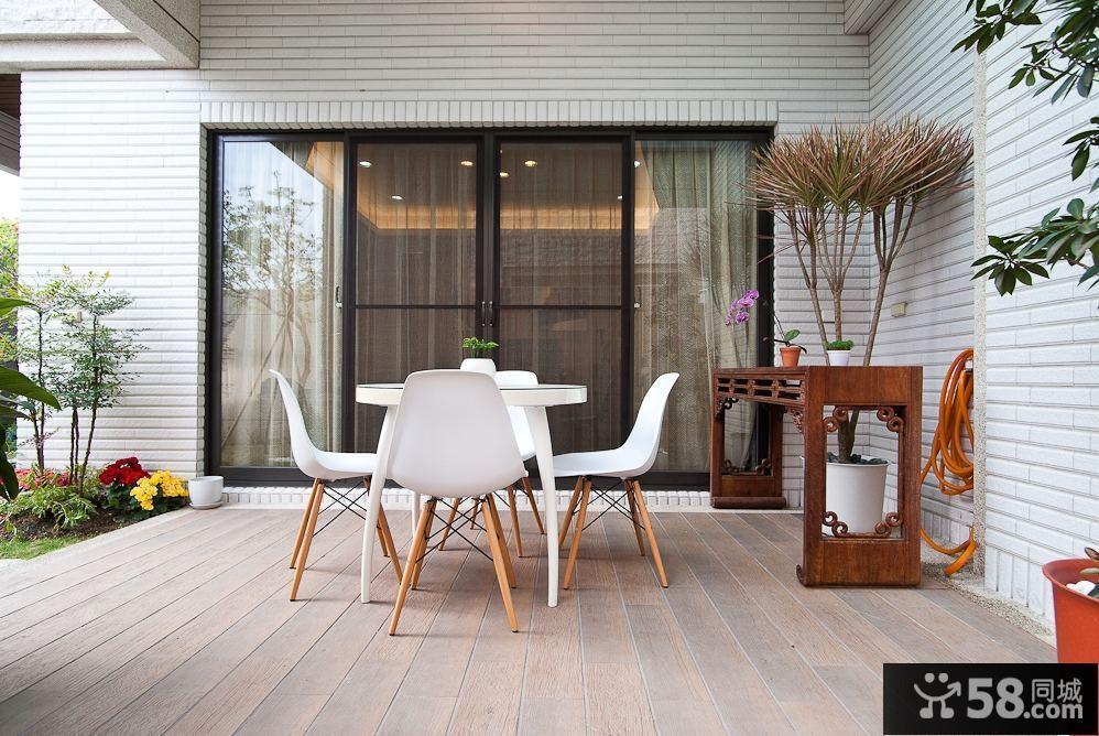 现代中式家庭装修阳台效果图图片