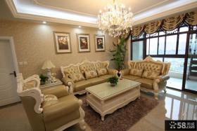 客厅沙发挂画背景墙装饰效果图欣赏