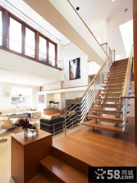 跃层别墅楼梯装修效果图