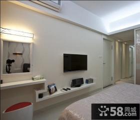 简约卧室电视背景墙装修效果图大全