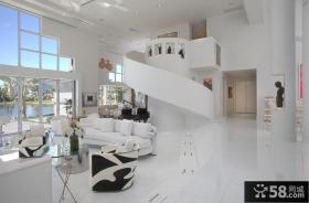 复式楼客厅装修效果图欣赏