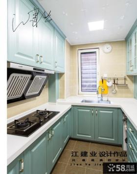 现代休闲混搭两室两厅厨房橱柜效果图