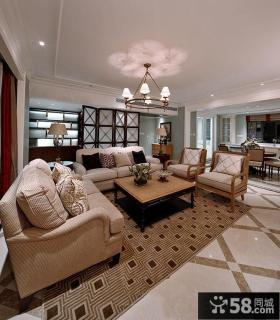 后现代风格两室一厅户型装修效果图大全