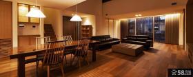 日式风格别墅室内实木装修设计