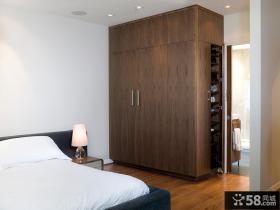 实木卧室衣柜图片