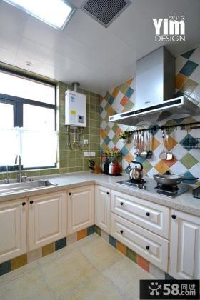 美式风格三居厨房橱柜图片