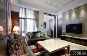 时尚现代风格客厅电视背景墙效果图