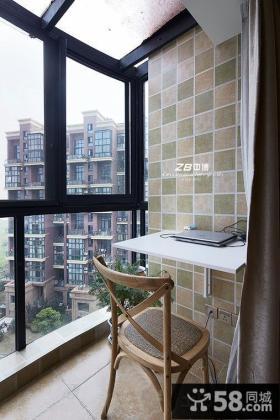 2平米大窗户阳台书桌图片