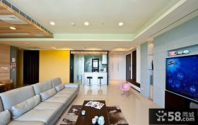 现代风格客厅电视机背景墙效果图欣赏