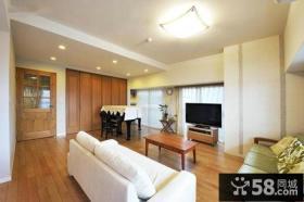 日式装修设计室内客厅电视背景墙效果图欣赏大全