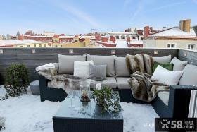 2013现代风格露天阳台设计实景图片