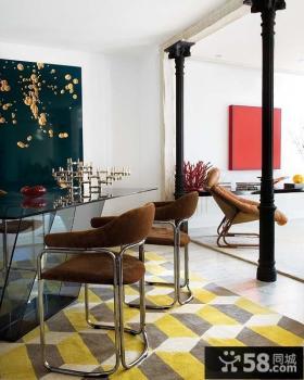80平小户型现代简约风格装修餐厅效果图欣赏
