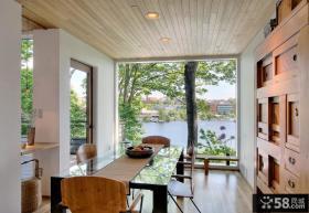 复式楼客厅装修效果图时尚原木调