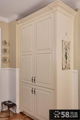 美式厨房整体实木橱柜装修效果图