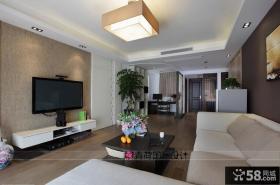 现代简约风格家装客厅电视背景墙效果图