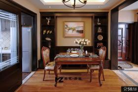 美式书房家具摆放设计
