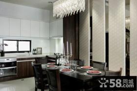 现代装修风格三室两厅西餐厅设计效果图