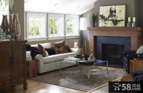110平米两室两厅欧式现代客厅装修效果图