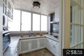 简约风格开放式厨房效果图